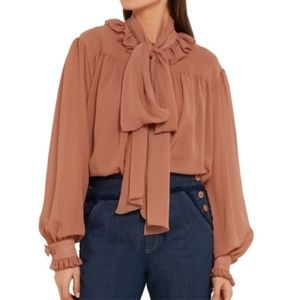 See By Chloé Pussy-bow Ruffled Blouse XS/S/FR 34